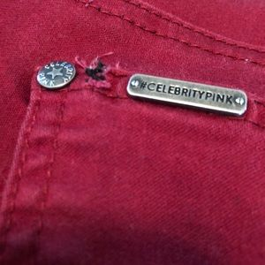 Celebrity Pink Pants - Celebrity Pink Maroon/Deep Red Pants Size 3